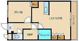 兵庫県姫路市飾磨区加茂南の賃貸アパートの間取り