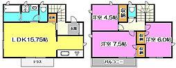 [一戸建] 埼玉県新座市野火止5丁目 の賃貸【/】の間取り