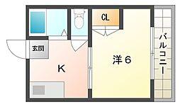 大阪府大阪市旭区太子橋3丁目の賃貸アパートの間取り