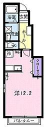 ワイズ III[1階]の間取り