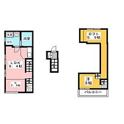 WhiteHillsEast[2階]の間取り