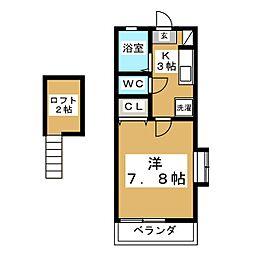 フィリア21[2階]の間取り