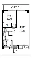 神奈川県厚木市寿町2丁目の賃貸マンションの間取り