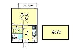 リーヴェルポート横浜上星川III[103号室]の間取り