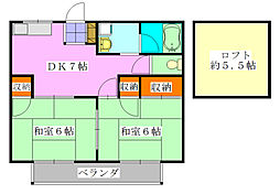 エクセル東船橋A棟[2階]の間取り