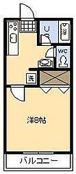 しおんビル[202号室]の間取り