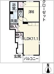 ウィスタリアⅡ[1階]の間取り