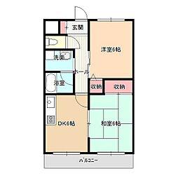 ソフィアケートヨコカワ[2階]の間取り