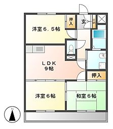 WAVE HOUSE[3階]の間取り
