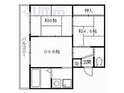 大嶌マンション[4階]の間取り