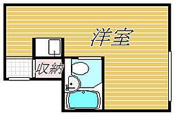 東京都世田谷区奥沢3丁目の賃貸マンションの間取り
