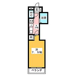 ラポール赤坂[2階]の間取り