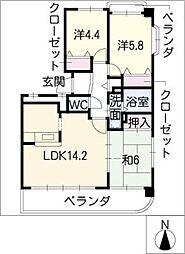 涼仙館[3階]の間取り