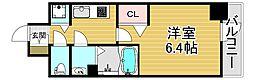 プレサンス福島ミッドエル 2階1Kの間取り