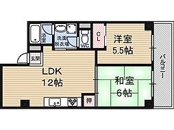 サニーサイド新大阪[9階]の間取り