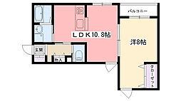 Rose Cottage[103号室]の間取り