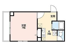 スタシオン梅田イースト[4階]の間取り