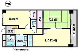 山田マンションビューテラス[1階]の間取り