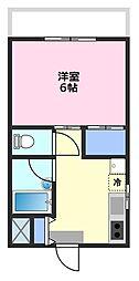 第12増尾ビル[5階]の間取り