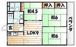 高峰グリーンマンション[3階]の間取り