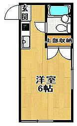 東京都世田谷区太子堂3の賃貸アパートの間取り