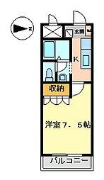オレンジハウス・T[102号室]の間取り