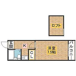 レジデンスパート4[2階]の間取り