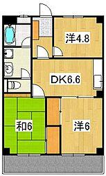 梶野マンション[2階]の間取り