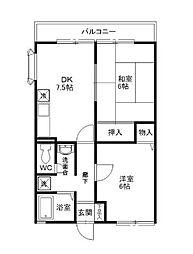 ヴィーブルA棟[2階]の間取り