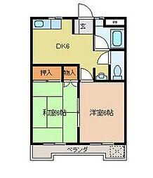 スカイハイツ上石田[4階]の間取り