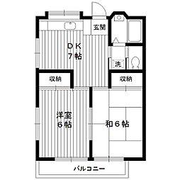 東京都練馬区春日町6丁目の賃貸アパートの間取り