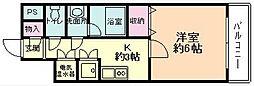 KWプレイス平野[601号室]の間取り