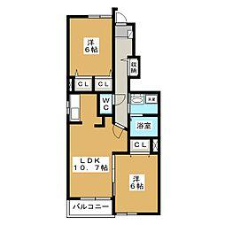 モンターニュ アン[2階]の間取り