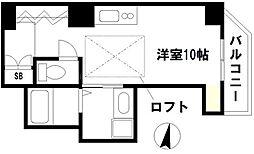 I-CRAFT 2階1Kの間取り