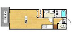 JR鹿児島本線 西牟田駅 徒歩24分の賃貸アパート 1階ワンルームの間取り