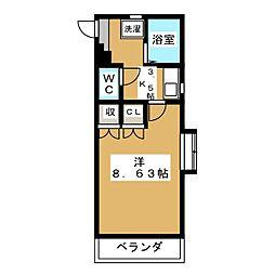 PAL−81[3階]の間取り