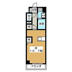 プラティーク・アビテ[4階]の間取り