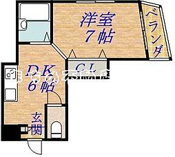 エクセーラ森小路[4階]の間取り