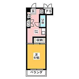 CASA NOAH鶴舞公園II[7階]の間取り