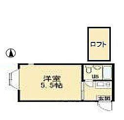 エクセル鶴川[2階]の間取り