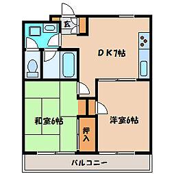 ベルメゾンT[3階]の間取り