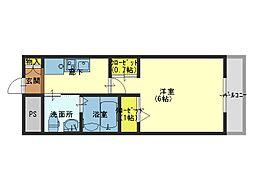 エステムプラザ大阪城パークフロント[10階]の間取り