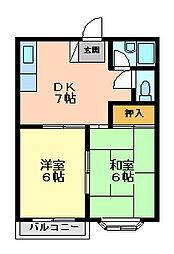 大蔵谷ハイツ[1階]の間取り