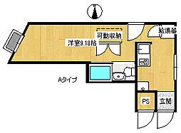 ハイツヤマザキ[4階]の間取り