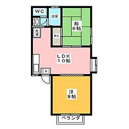 ユタカコーポ[2階]の間取り
