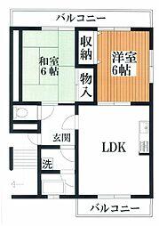マンションTAKAYAII[2階]の間取り