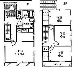 稲場町戸建借家[2階]の間取り