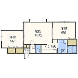 北海道札幌市東区伏古十条2丁目の賃貸アパートの間取り
