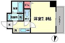 TOYOTOMI STAT PREMIUM 梅田III 4階1Kの間取り