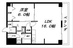 タイハイツ桜宮[4階]の間取り